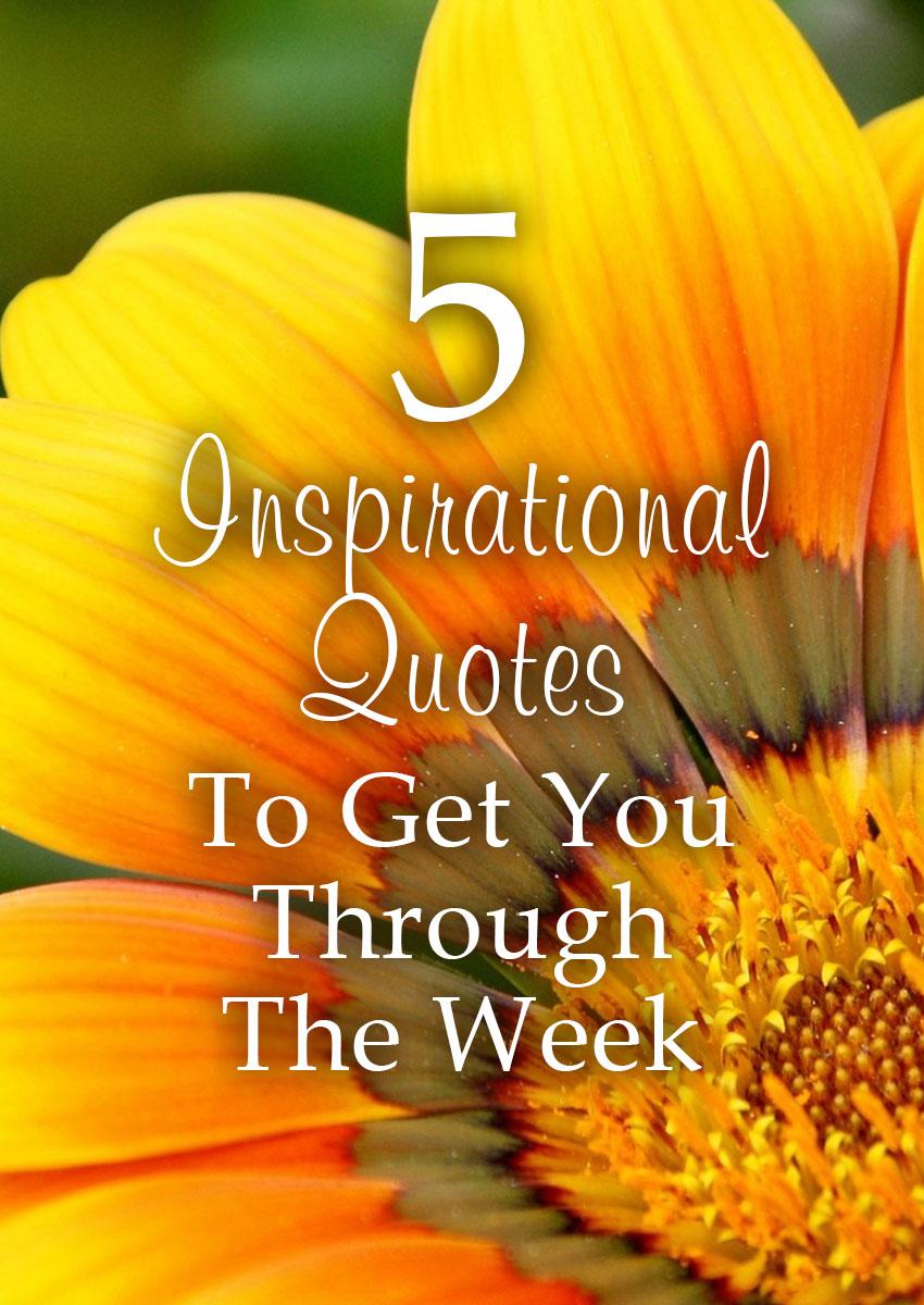 Fi Pin 5 Inspirational Quotes For Your Week Elijah Notes