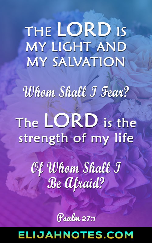 FEAR NOT: 32 Bible Verses About Fear - Page 2 of 3 - Elijah